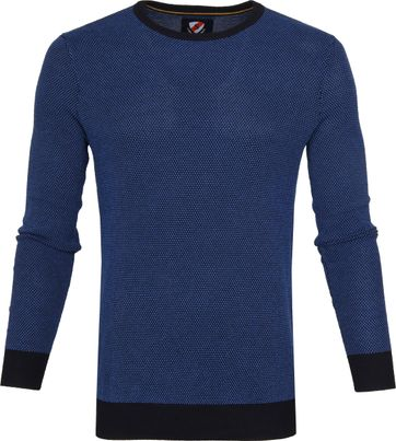 Suitable Cotton Bince Pullover Blue