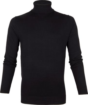 Suitable Cotton Dex Turtleneck Black
