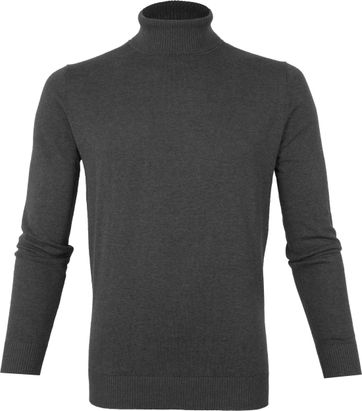 Suitable Cotton Dex Turtleneck Dark Grey