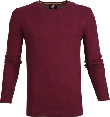 Suitable Cotton Hong Pullover Dark Red