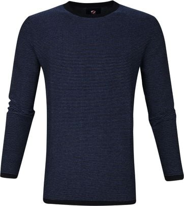 Suitable Cotton Leo Pullover Navy