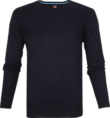 Suitable Cotton Pullover Brick Navy