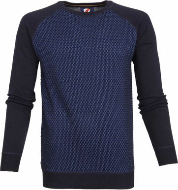 Suitable Cotton Pullover Harry Navy Blue