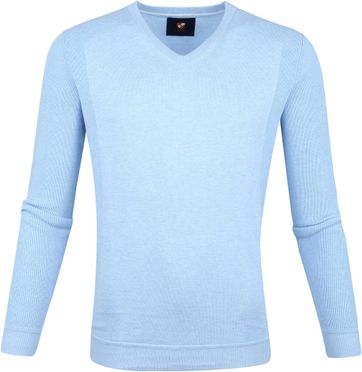 Suitable Cotton Steven Pullover Blue