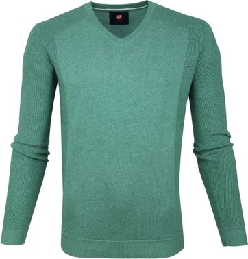 Suitable Cotton Steven Pullover Green