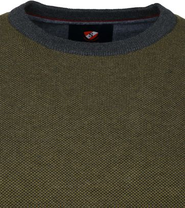 Suitable Cotton Thomas Pullover Dark Green