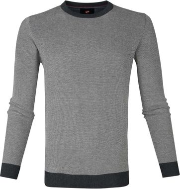 Suitable Cotton Thomas Pullover Grey