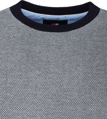 Suitable Cotton Thomas Pullover Navy Dots