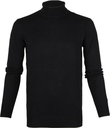 Suitable Cotton Turtleneck Black