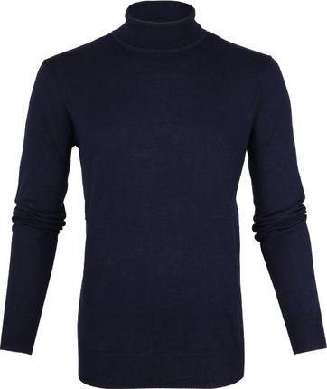 Suitable Cotton Turtleneck Dark Blue