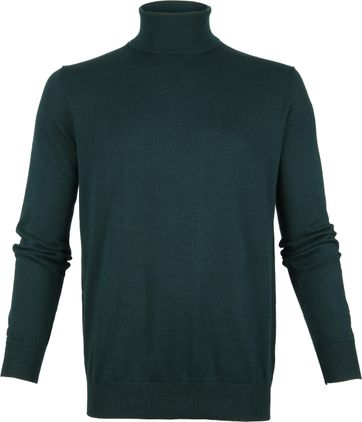 Suitable Cotton Turtleneck Darkgreen