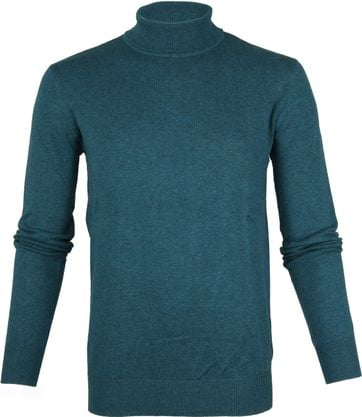 Suitable Cotton Turtleneck Petrol