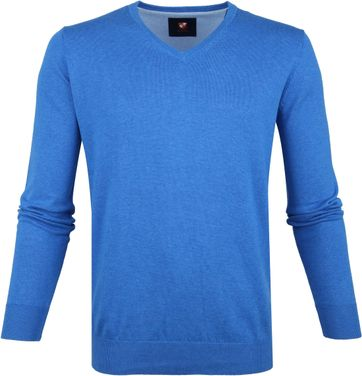 Suitable Cotton Vince Pullover Blue