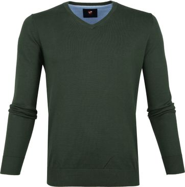 Suitable Cotton Vince Pullover Green