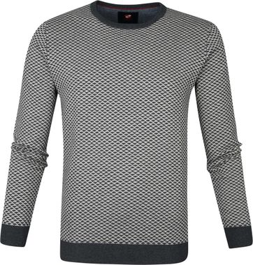 Suitable Cotton Zach Pullover Grey Design