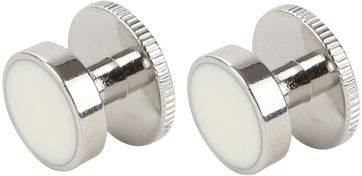 Suitable Cufflinks Steel Silver White
