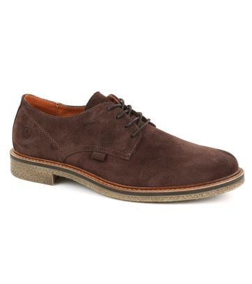 Suitable Derby Low Brown