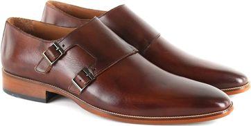 Suitable Double Monk Strap Brown