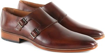 Suitable Double Monk Strap Schoen Bruin