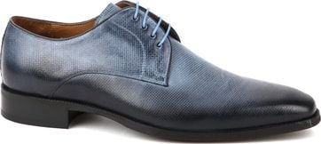 Suitable Dress Shoes Derby Print Blue