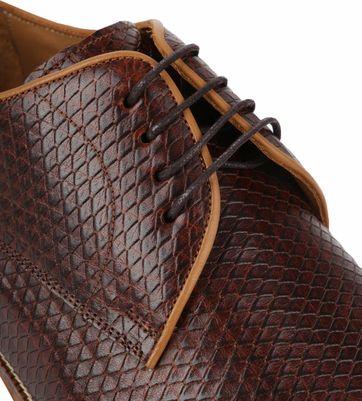 Suitable Dress Shoes Derby Print Brown