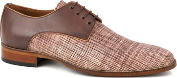 Suitable Dress Shoes Derby Print Mid Brown