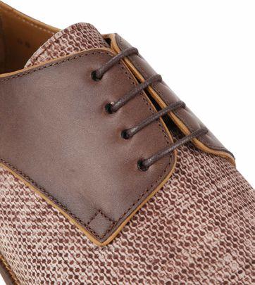 Suitable Dress Shoes Derby Print Mid Brown