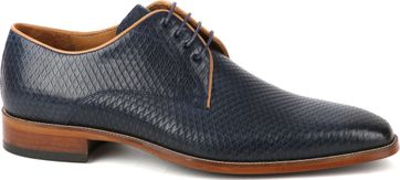 Suitable Dress Shoes Derby Print Navy