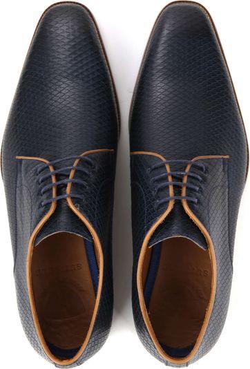 Suitable Dress Shoes Derby Print Navy