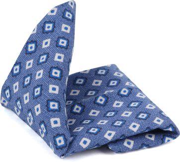 Suitable Einstecktuch Blau Karo