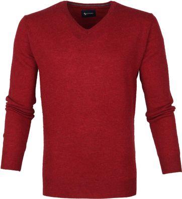 Suitable Feine Lammwolle 12g V-Ausschnitt Rot