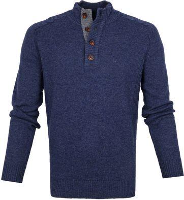 Suitable Feinen Lammfell 9g Mocker Pullover Navy