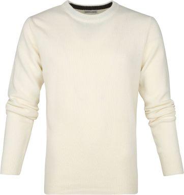 Suitable Fijn Lamswol 7g Pullover O-Hals Beige