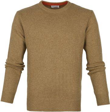 Suitable Fijn Lamswol 7g Pullover O-Hals Bruin