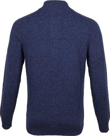Suitable Fijn Lamswol 9 garen Mocker Pullover Donkerblauw - Donkerblauw maat XL