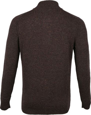 Suitable Fijn Lamswol 9g Mocker Pullover Bruin