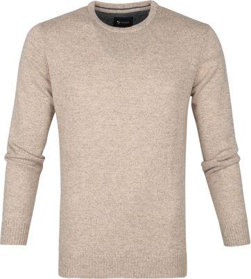 Suitable Fijn Lamswol 9g Pullover O-Hals Beige