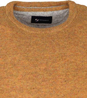 Suitable Fijn Lamswol 9g Pullover O-Hals Okergeel