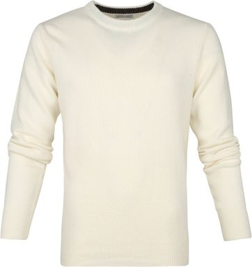 Suitable Fine Lambswool 7 gauge Pullover O-Neck Beige
