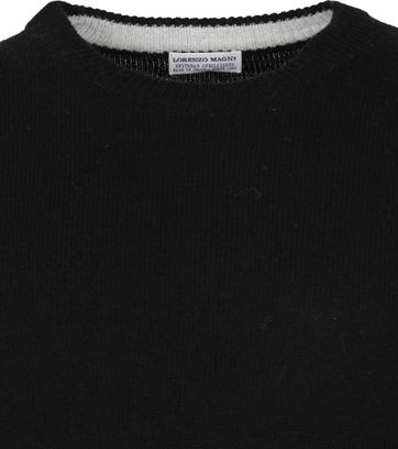 Suitable Fine Lambswool 7 gauge Pullover O-Neck Black