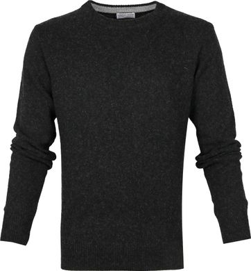 Suitable Fine Lambswool 7g Pullover O-Neck Anthracite