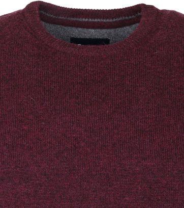 Suitable Fine Lambswool 9 gauge Pullover O-Neck Bordeaux