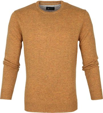 Suitable Fine Lambswool 9 gauge Pullover O-Neck Ochre