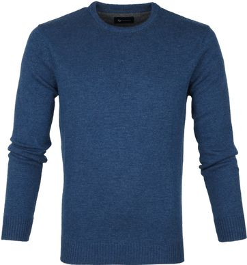 Suitable Fine Lambswool 9 gauge Pullover O-Neck Petrol
