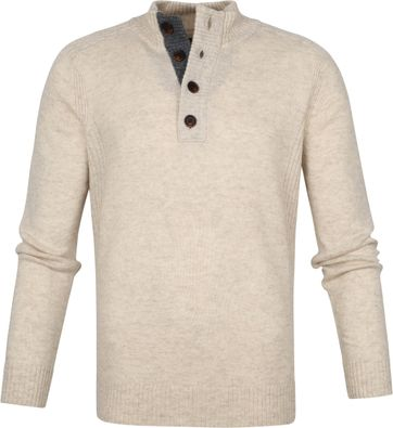 Suitable Fine Lambswool 9g Mocker Pullover Beige