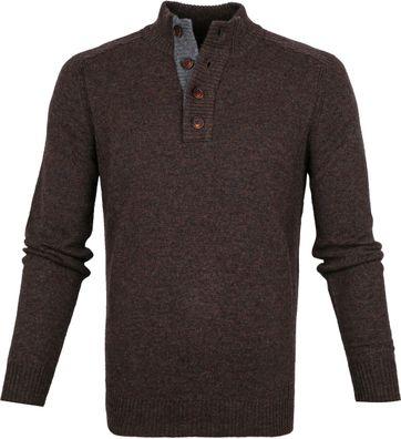 Suitable Fine Lambswool 9g Mocker Pullover Brown