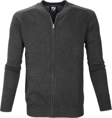 Suitable Freddy Cardigan Dark Grey