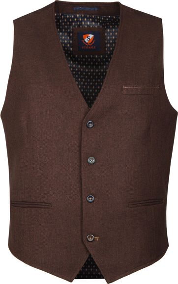 Suitable Fyn Waistcoat Brown