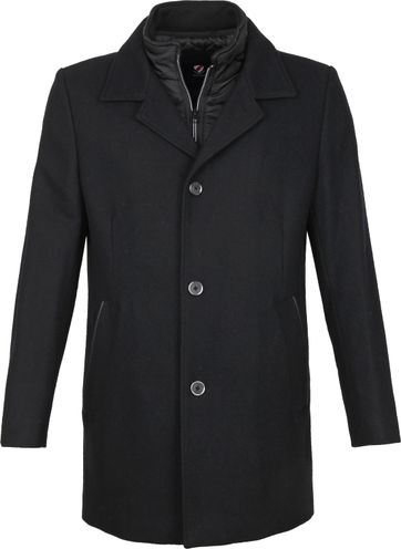 Suitable Geke Coat Black