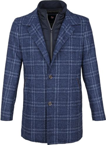 Suitable Geke Coat Check Blau